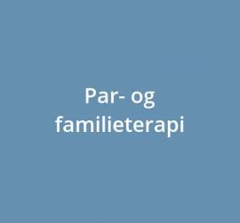Par- og familieterapi
